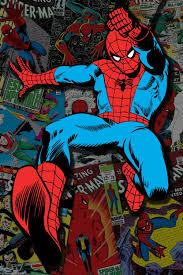 canvas spiderman canvas wall art incredible marvel comic book spiderman covers collage canvas wall art by