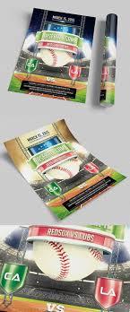 Baseball Brochure Template Baseball Game Flyer Template Psd On Behance
