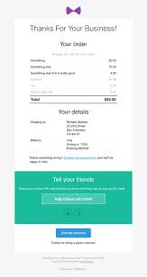 Responsive Receipt Invoice Email Template