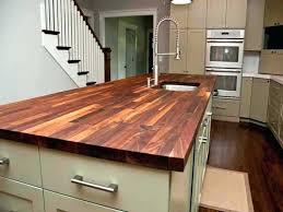 dark butcher block countertops refinishing finishing countertop tung oil