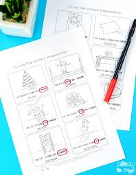 Christmas Prepositions Worksheets - Itsy Bitsy Fun