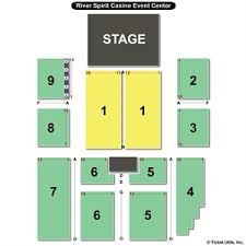 River Spirit Paradise Cove Seating Chart River Spirit Casino Tulsa Event Center Seating Best Slots