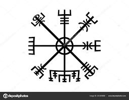 Dekódování Starověkých Symbolů Normané Vegvisir Viking Kompas