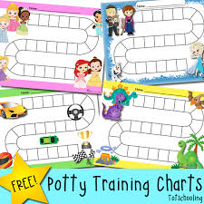 Free Potty Training Progress Reward Charts Totschooling