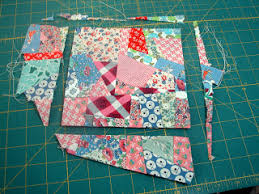 Several folks have emailed and asked how I made the crazy blocks ... & Vintage Windows Crazy Block Tutorial~ I think traditional crazy quilts are  made on a foundation fabric. I tried that method found it restrictive. Adamdwight.com