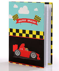 Baby Oodles Notebook Super Racer Theme Multicolor 80 Pages