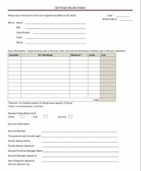 39 Work Order Templates Download Pdf Work Order Format