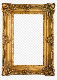 variants on ornate gold frames around graphic image frame transpa