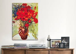 vase with daisies and poppies by vincent van gogh graphic art print