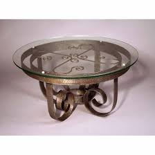 top glass coffee table wrought iron round coffee table iron round coffee table metalwork round wrought