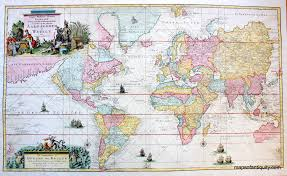 One Of Our Rarest And Finest World Maps This Stunning