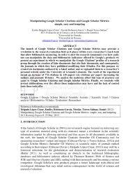 How To Fake Google Scholar Citations Citation Scholarly
