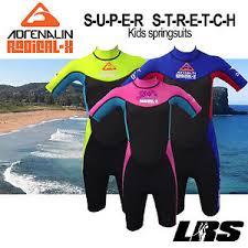 Details About New Adrenalin Kids Radical Super Stretch Springsuit Wetsuit Short Sleeve Leg