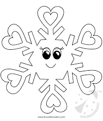 Disegni Inverno Per Bambini Fiocchi Di Neve Da Colorare