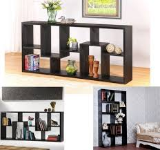 wood book storage case shelf wooden staggered display cube wall