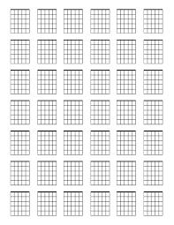 Blank Chord Chart Pdf Corner Of Chart And Menu