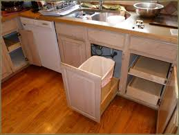 kitchen rolling trash drawer rolling kitchen shelves