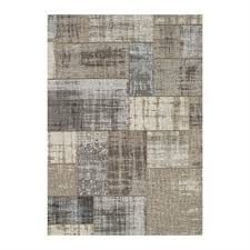 kalora cathedral grey cream distressed patchwork area rug lowe s canada