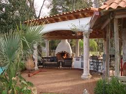 houston spanish style patio with