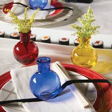 transpa glass favor bud vases in 10 colors set of 5 26 gif