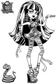 Small Picture Monster High Cleo Coloring Pages GetColoringPagescom