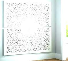 white carved wood wall art decor whitewashed medallion fair panels large pier 1