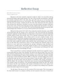 Example Of A Reflective Essay Reflective Essays Examples Kliqplan Com