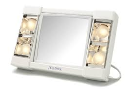jerdon 8 2 sided swivel halo lighted wall mount mirror 5x jerdon table top makeup mirror 3x magnification white j1010