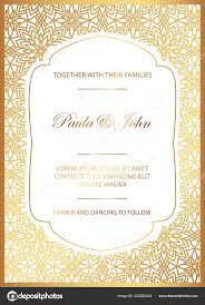Royal Invitation Template Stylish Gold White Wedding Card Royal Vintage Wedding