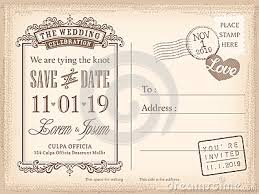 Save The Date Postcards Templates Vintage Postcard Save The Date Background For Wedding Invitation