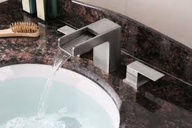 ruvati rvf5125bn waterfall 8 15 widespread modern contemporary bathroom faucet brushed nickel