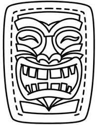 4be6f1b15ad1dde087d8aaf975831844 hawaiian tiki mask template coloring page tiki masks pinterest on curriculum unit template