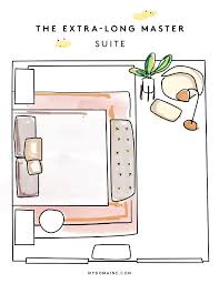 room furniture layout. Bedroom Layouts \u2014 Master Suite Room Furniture Layout R