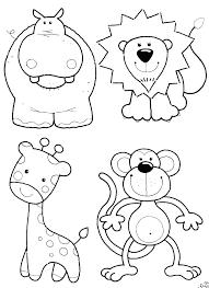 Baby Safari Animal Coloring Pages Healthwomeninfo