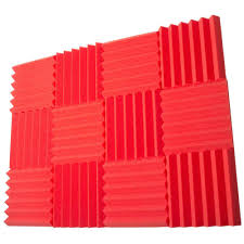 2 inch foam sheets 12 pack of red 2 inch studio acoustic foam sheets seismic audio
