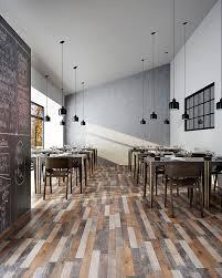 eclectic hardwood porcelain tile flooring in a restaurant space express flooring phoenix