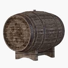3d old wine barrel model