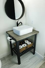 bathroom sink modern. Ikea Hack- DIY Bathroom Sink Stand. Rustic Modern Base. Open Stand With