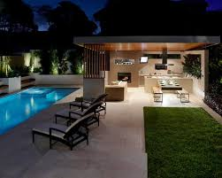 backyard pool and outdoor kitchen designs. Contemporary Designs Backyard Designs With Pool And Outdoor Kitchen Innovative Image Of  Property On Gallery To O
