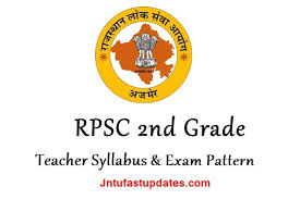 Teacher Syllabus Rpsc 2nd Grade Teacher Syllabus Exam Pattern 2018 Download