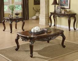 Coffee Table End Tables Anondale Cherry Wood 3pc Coffee End Table Set Occasional Coffee