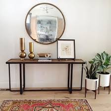 Furniture Mirror Over Console Table Decoration