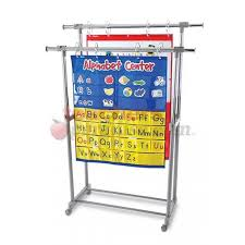Double Pocket Chart Stand With Storage