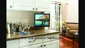 Under Cabinet Tvs Kitchen Arrowmounts Flip Down Ceiling Or Under Cabinet Mount For Lcd Tvs
