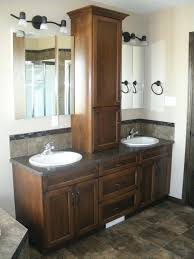 dual sink vanity narrow double