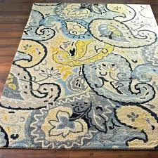 teal and yellow rug deals on home hand tufted indoor area gray amazing blue grey grey and yellow rug