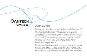 PANTECH BREEZE IV USER MANUAL Pdf ...