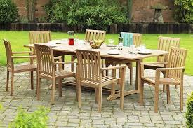 teak outdoor extending dining table set