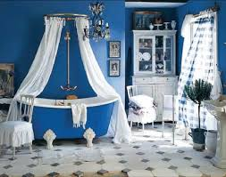 Blue Bathtub white blue bathtub with white shower curtains with white wooden 4846 by xevi.us