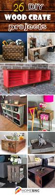 wood crate furniture diy. 26 Brilliant DIY Wood Crate Projects To Make Your Home Cooler Furniture Diy